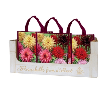 OMDOOS 10 SHOPPING BAGS 5 DAHLIA FAVOURITE LOVE I