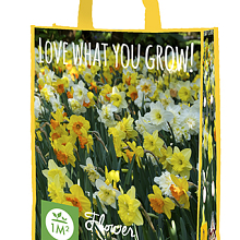 X 1 SHOPPING BAG 25 NARCISSUS 'LOVE WHAT YOU GROW!' 12/14