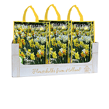 OMDOOS 10 SHOPPING BAGS NARCISSUS 'LOVE WHAT YOU GROW!' 12/14