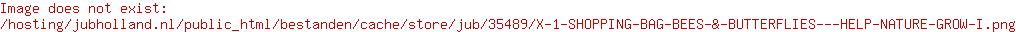 X 1 SHOPPING BAG BEES & BUTTERFLIES - HELP NATURE GROW I